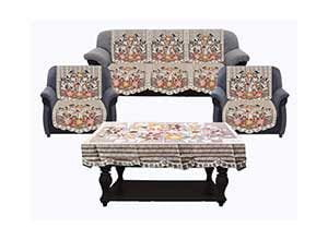 Cotton 5 Seater Sofa Cover