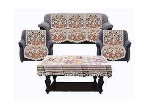 6 pieces sofa and Center Table cover set