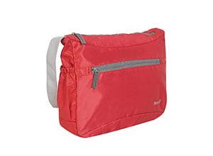Bendly Nylon Red Passport Sling Bag