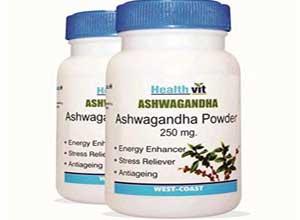 Pure Ashwagandha Powder 250mg 60 Capsules