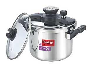 Prestige Clip On Stainless Steel Pressure Cooker