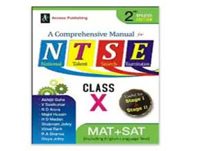 A Comprehensive Manual for NTSE for Class X At Rs.220