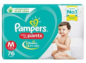 Pampers New Diapers Pants Medium 76 Count