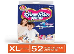 MamyPoko Pants Extra Absorb Diaper XL 52 Count
