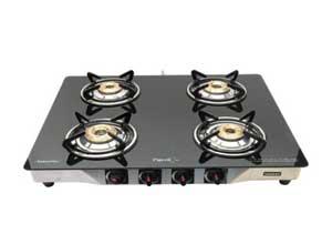 Pigeon Blackline Smart Stainless Steel 4 Burner Gas Stove