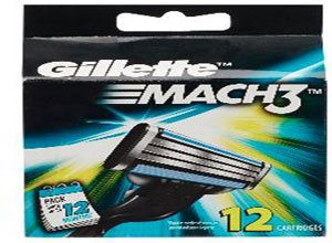 Gillette Mach 3 Manual Shaving Razor Blades 12 pack