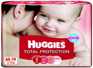 Huggies Total Protection Medium Size Diapers