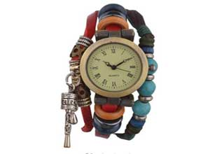 Habors Multiband Watch Red Bracelet At Rs.419
