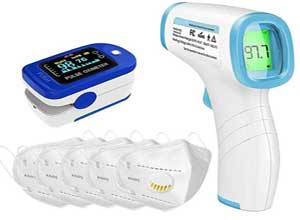 3in1 Combo Oximeter, Thermometer & Face Mask