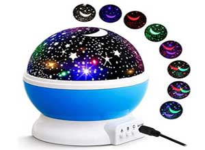 Space Star Projector Night lamp for Kids