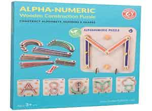 Wooden Alphabets Construction Toys