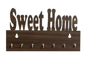 Wooden Side Shelf Key Holder for Home