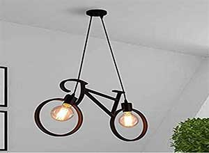 Hanging Lamp With Holder Black